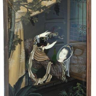 Dame mit Spiegel am Fenster