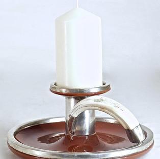 Kerzenhalter mit Keilerzahn