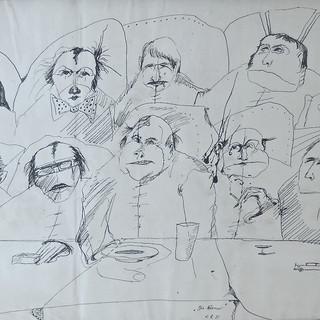 """Horst Janssen, """"Die Männer"""""""