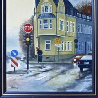 "Werner Freise, ""Kreuzung Ringstraße-Hauptsraße"""""