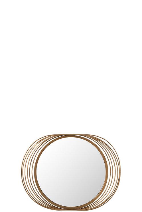 Miroir Cercles Rond Metal/Verre Or