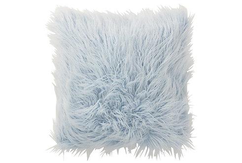 Coussin Poils Longs Fourrure Bleu