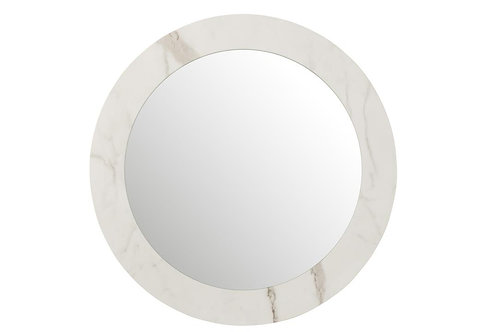 Miroir Marbre Mdf/Verre Blanc