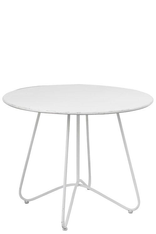 Table Ronde Metal Blanc