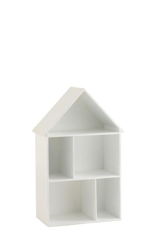 Étagère Murale Maison 3 Planches Blanc