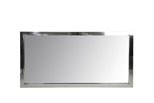 Petit miroir rectangulaire acier inoxydable argent
