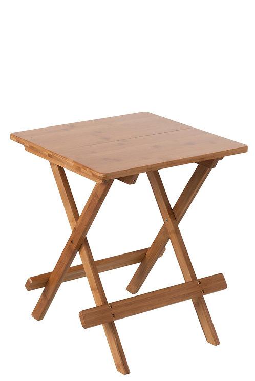 Table Gigogne Pliable Bambou Naturel