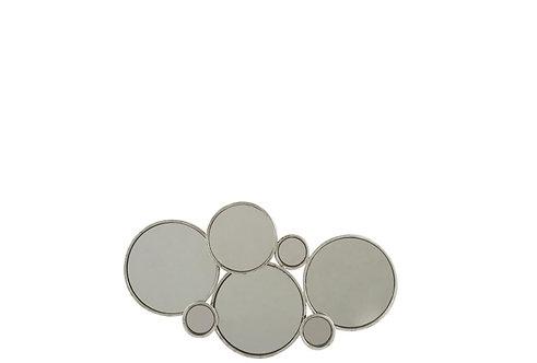Miroir 6 Ronds Metal Argent