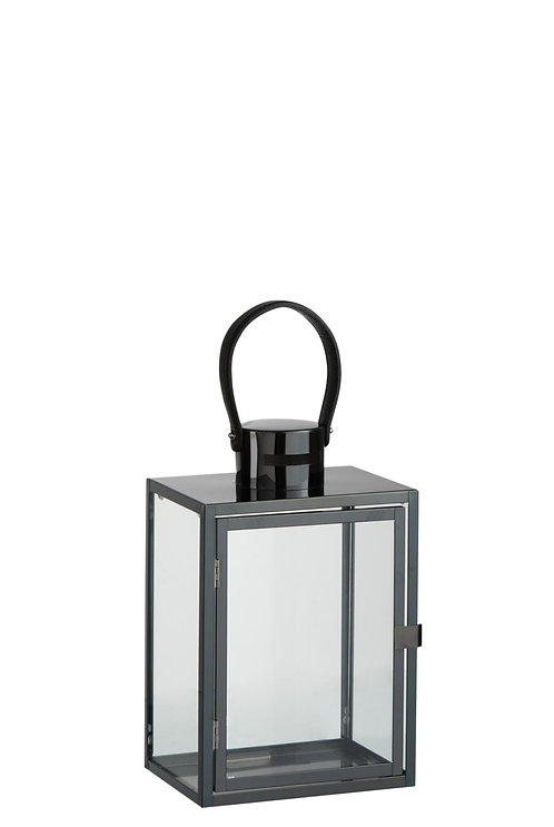 Lanterne Rectangulaire Acier/Verre Noir