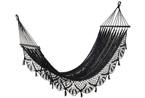 Hamac Crochet Coton Noir
