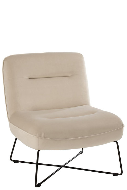 Chaise Lounge Support Textile/Metal Blanc