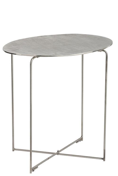 Table Gigogne Metal Antique Argent Large
