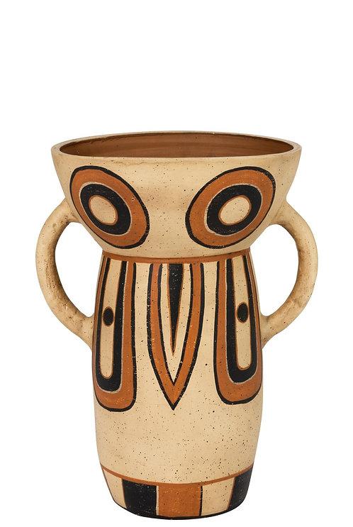 Vase Ethnique Haut Terre Cuite Mix