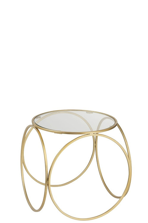 Table gigogne basse cercles or