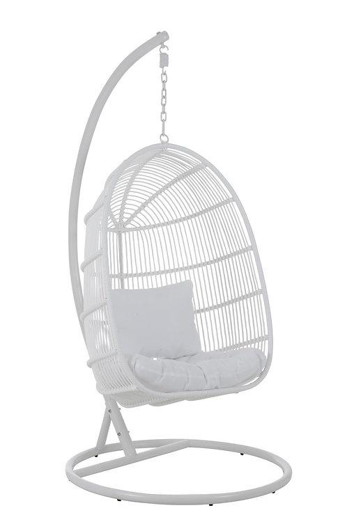 Chaise Suspendue Ovale Acier Blanc