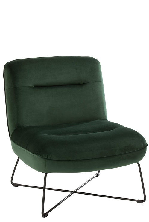 Chaise Lounge Support Textile/Metal Vert