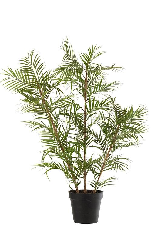Palmier En Pot Plastique Vert/Noir Large