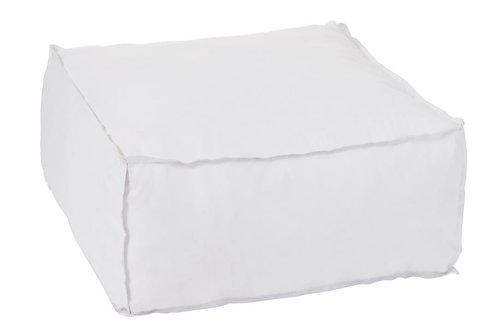 Pouf Carre Polyester Blanc