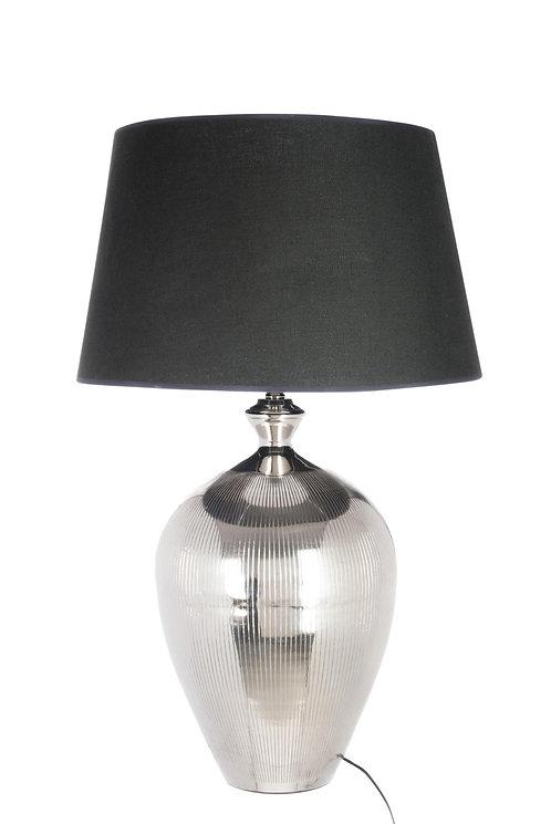 Lampe Boule Lignes Aluminium Argent/Noir