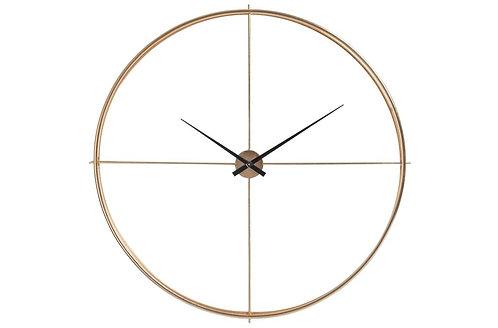 Horloge Ronde Metal Or