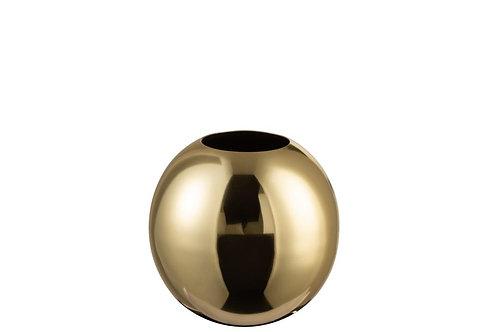 Vase Boule Acier Inoxydable Brillant Or