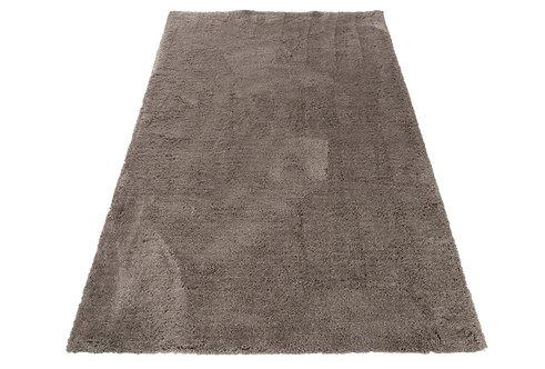 Tapis Uni Long Polyester Gris