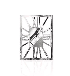 Horloge miroir rectangle