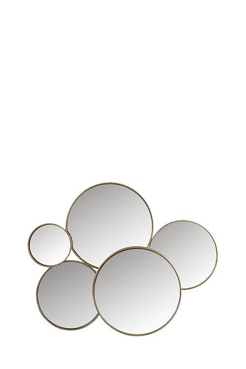 Miroir 5 ronds or