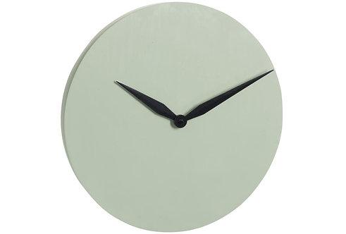 Horloge Moderne Ciment Vert Clair