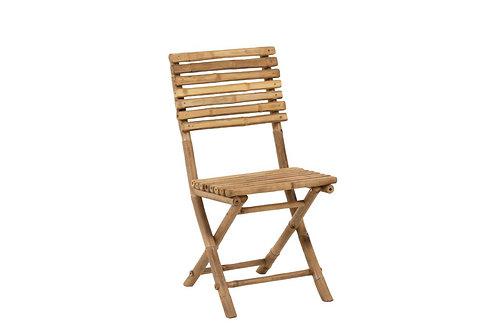 Copie de Fauteuil 1p Bambou+Textile Naturel/Chaise Pliable Bambou Naturel