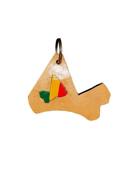 Porte clé à personnaliser «Carte du Mali»