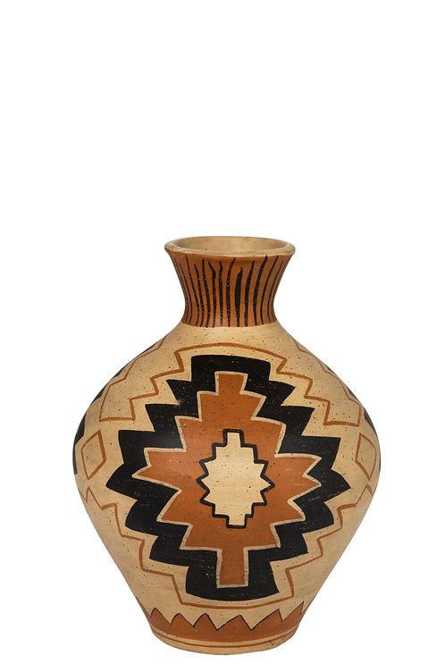 Vase Ethnique Terre Cuite Mix Large