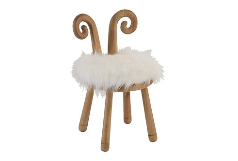 Chaise Oreille Mouton Bois Naturel