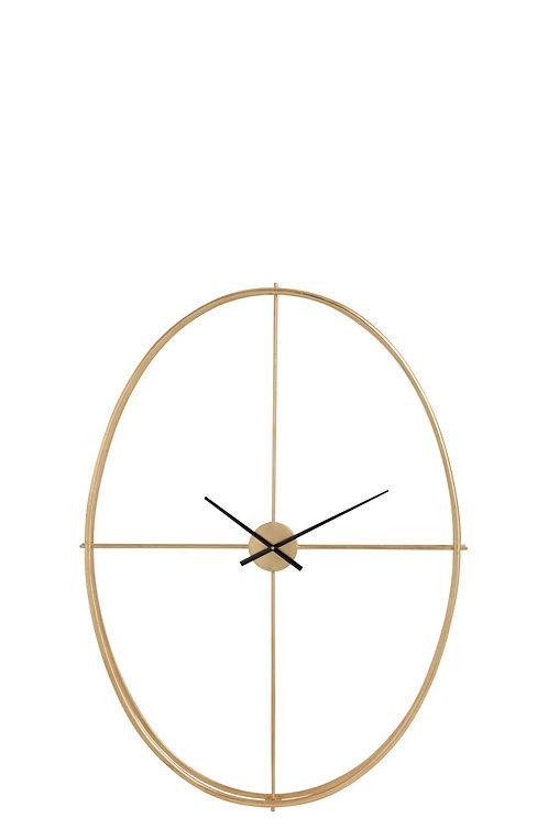 Horloge Ovale Metal Or Large