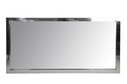 Petit miroir rectangulaire acier argent