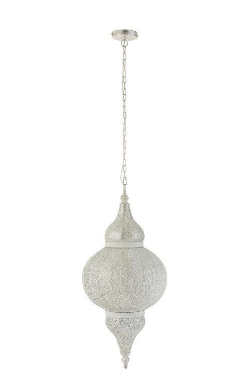 Lampe Suspendue Orientale Bord Metal Blanc
