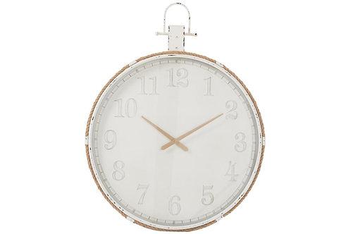 Horloge Ronde Metal Blanc Large