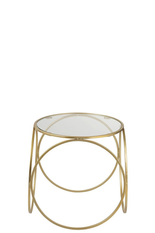 Table gigogne haute cercles or