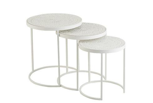 Set De 3 Tables Gigognes Hautes
