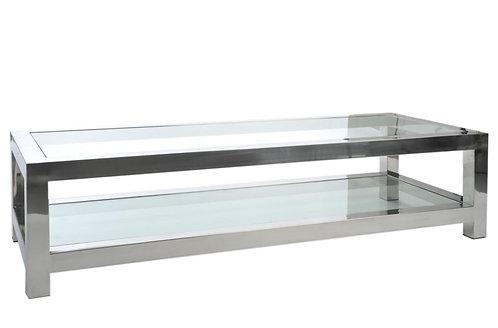 Table Salon Acierier Inoxydable/Verre Argent