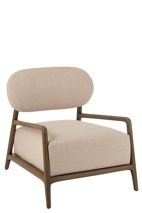 Sofa 1 Personne Relax Textile/Bois Beige