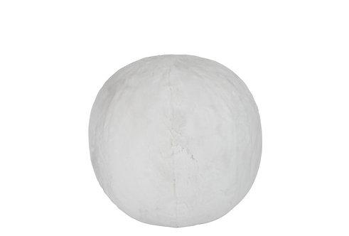 Pouf Cutie Gonflable Acrylique Blanc