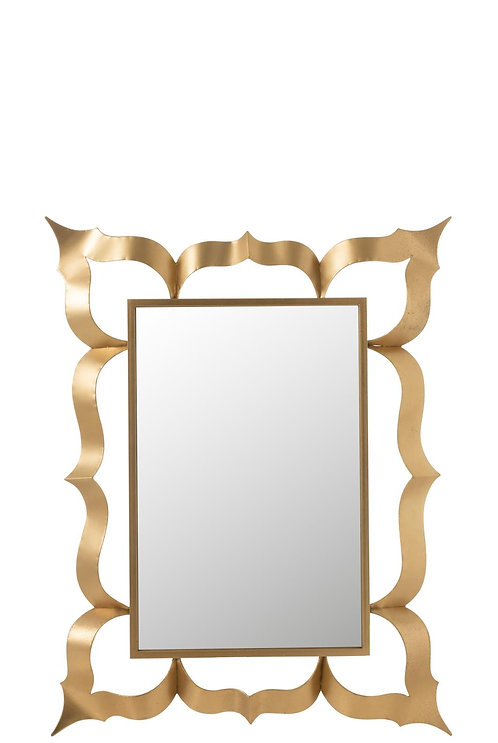 Miroir Baroque Rectangulaire Metal/Verre Or