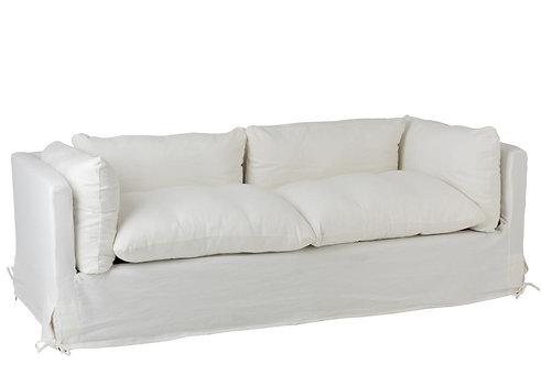 Fauteuil 2/3 Personnes Bouleau/Textile Blanc