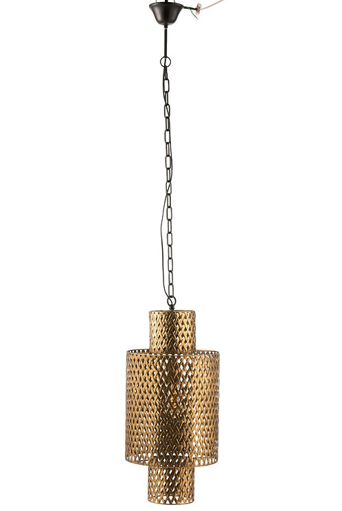 Lampe Suspendue Longue Antique Zinc Or