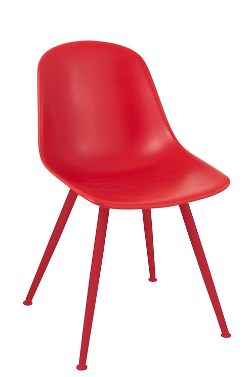 Chaise Bea Polypropylene Rouge