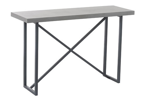Console Beton Finish Rectangulaire Bois/Metal Gris