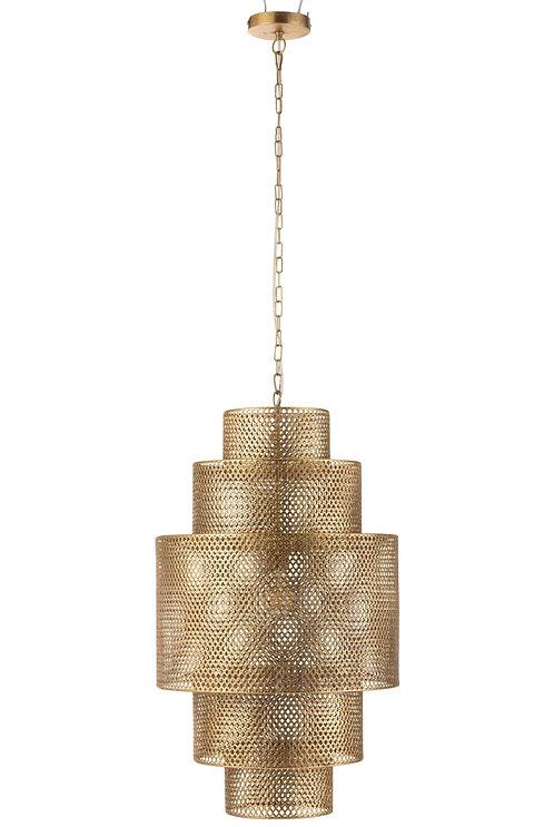 Lampe Suspendue Etages Metal Or Large