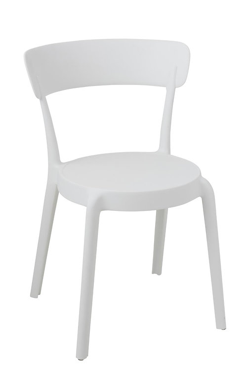 Chaise Kurt Polypropylene Blanc