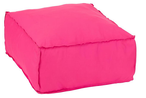 Pouf Carre Polyester Rose